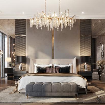 ห้องนอนแบบ luxury
